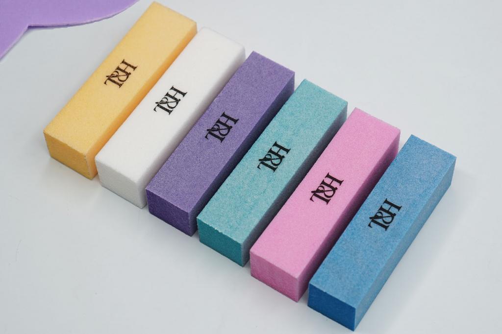 Баф цветной T&H 180 грит в уп 10шт одного цвета белый, голубой, тиффани, розовый, фиолетовый.jpg